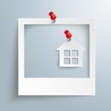 Hus för fotoramhäftstift Royaltyfria Foton