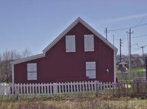 Hus 3610 för gammal skola för sidosikt arkivbild