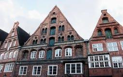 Hus för gaveltak av Lueneburg-IX- arkivfoton