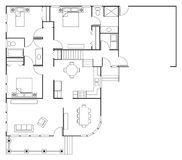 Hus för golvplan Royaltyfria Foton