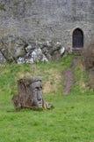 Hus 02 för gräsmattaskulptursten Royaltyfri Fotografi