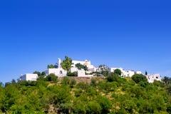 Hus för Ibiza Santa Eulalia delRio kull Arkivbilder