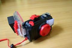 Hus för kompakt digital kamera Arkivbild