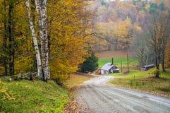 Hus för lönnsocker, läsning, Vermont, USA royaltyfri fotografi