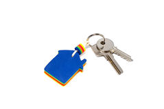 Hus för nyckel- färger med tangenter Arkivfoto