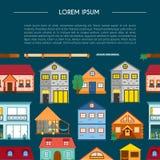 Hus för semester för vektortecknad filmhyra vektor illustrationer