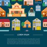 Hus för semester för vektortecknad filmhyra stock illustrationer