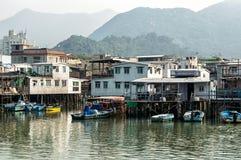 Hus för stylta för Tai-nolla-fiskeläge i Hong Kong Royaltyfria Bilder