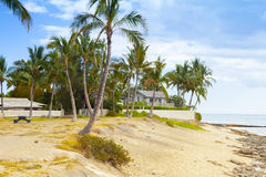 Hus för Waikiki ohauhawaii strand Arkivfoto