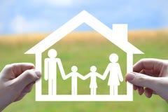 Hus familjsymbol Fotografering för Bildbyråer