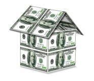 Hus från USA dollar Arkivbilder