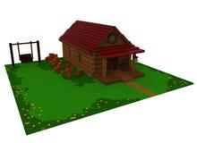 hus för sommar 3d Arkivfoton