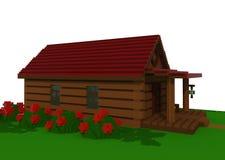 hus för sommar 3d Royaltyfria Bilder