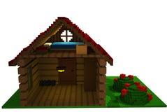 hus för sommar 3d Royaltyfria Foton
