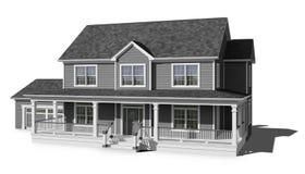Hus för två berättelse - grå färg Arkivbilder