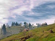 Hus från Moieciu Fotografering för Bildbyråer