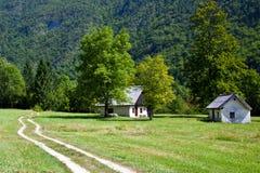 Hus i Alps Royaltyfria Bilder
