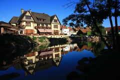 Hus i Alsace Fotografering för Bildbyråer