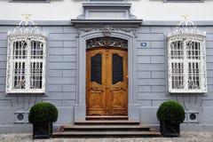 Hus i Basel royaltyfri bild