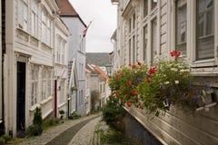 Hus i Bergen, Norge Royaltyfri Foto