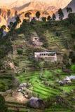 Hus i berget Pakistan Royaltyfria Foton