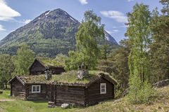 Hus i Beverdalen Arkivbild