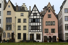 Hus i Buttermarkt område, Cologne Fotografering för Bildbyråer