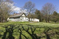 Hus i byn Royaltyfria Foton