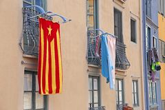 Hus i Catalonia Fotografering för Bildbyråer