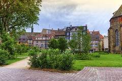 Hus i Colmar, Alsace, Frankrike arkivbild