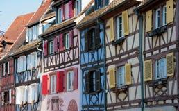 Hus i Colmar, Frankrike royaltyfri bild