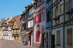 Hus i Colmar, Frankrike arkivfoton