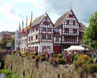 Hus i dåliga Munster Eifel Arkivbilder