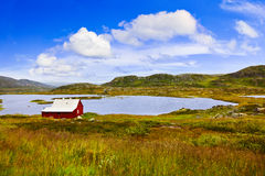 Hus i den Buskerud regionen av Norge Royaltyfria Foton