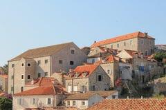 Hus i den gamla staden av Dubrovnik Kroatien arkivbild