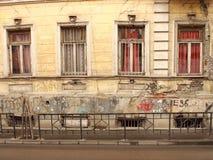 Hus i den gamla staden av Tbilisi i Georgia arkivfoton