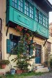 Hus i den gamla staden Rhodes ö Grekland Royaltyfri Fotografi