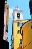 Hus i den historiska mitten av Genua Royaltyfria Bilder