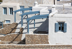 Hus i den Koufonisia ön royaltyfri bild