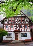Hus i den svarta skogen royaltyfri foto
