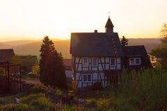 Hus i den tyska stilen Royaltyfri Bild