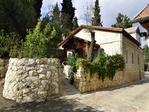 Hus i det ryska ortodoxa klosterkomplexet, Jerusalem Arkivbilder