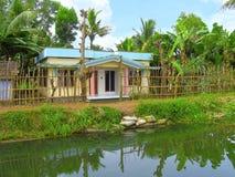 Hus i det tillbaka vattnet av Kerala, Indien Royaltyfria Bilder
