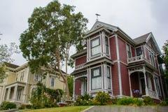 Hus i det viktorianskt i Los Angeles, Kalifornien, USA Royaltyfri Fotografi