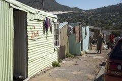 Hus i en söder - afrikansk församling Arkivfoton
