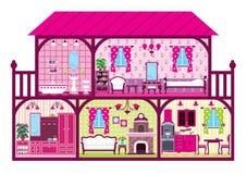 Hus i ett snitt Arkivbilder