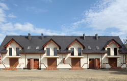 Hus i Europa royaltyfria bilder