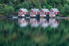 Hus i Flåm Royaltyfri Foto