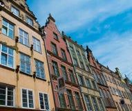 Hus i gammal stad av Gdansk Arkivbild