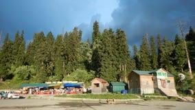 Hus i Gulmarg-Kashmir-4 Arkivfoton